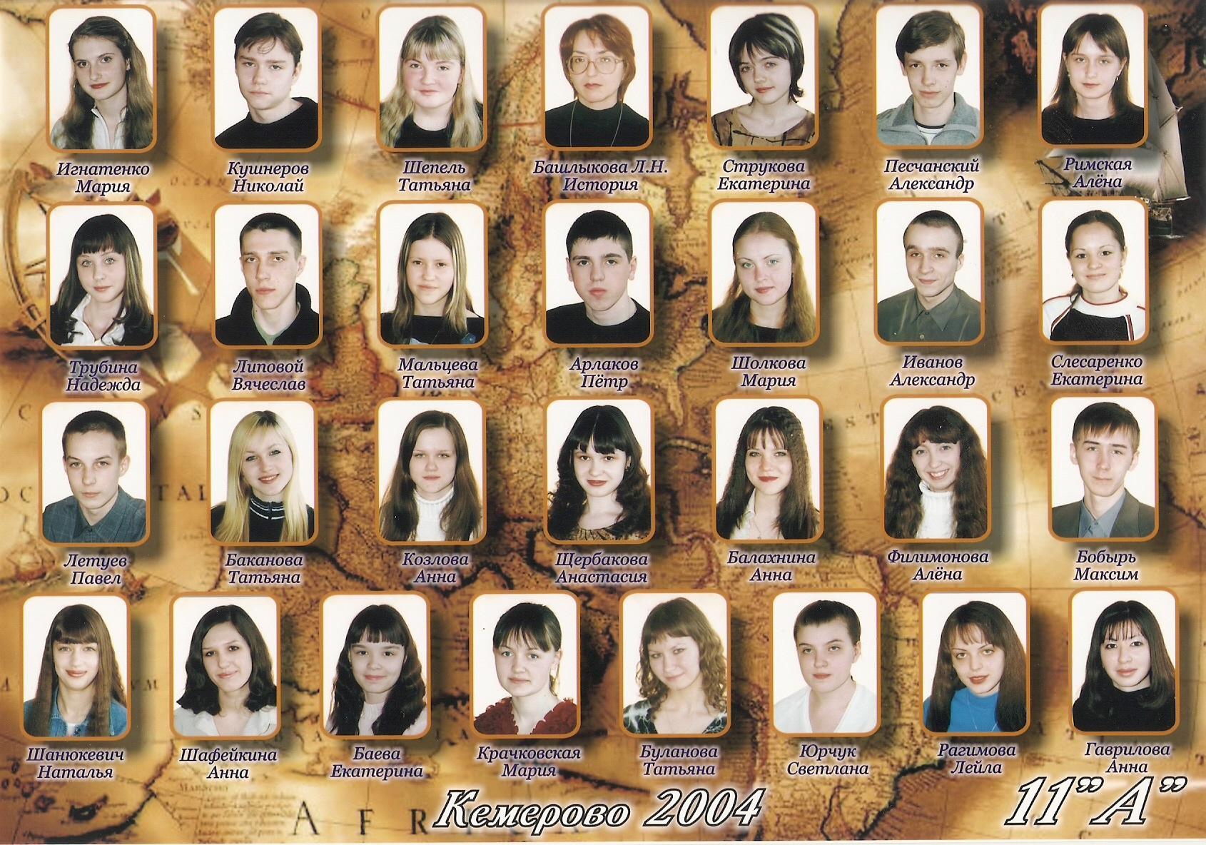 Выпуск 2004 Музей школы 11 Кемерово